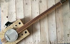 Fretless Resonator Cigar Box Bass (Electric)