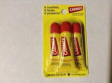 Carmex Original Moisturizing Cold Sore Healing Lip Balm 3 Tube Pack