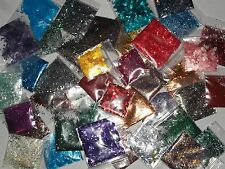10 Bags of Assorted Solvent Resistant Glitter polish nail art lot mix grab bag