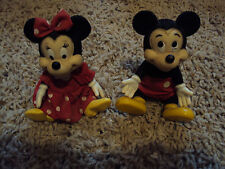 VINTAGE PLASTIC BENDABLE MICKEY AND MINNIE MOUSE