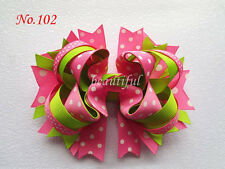 "100 BLESSING Good Latest Vogue Various Style 2.25-2.75/"" Hair Bow Clip Flower"