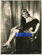 THELMA TODD Vintage Original Dbl-Wgt HOMMEL Photo 1927 Risque Sexy Fur Boa