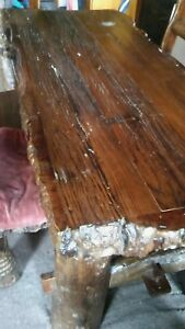 unique artisan solid wood table. Very heavy. Excellent condition!