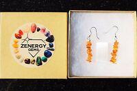 CHARGED Citrine Designer Crystal Chip Earrings REIKI Energy! ZENERGY GEMS™