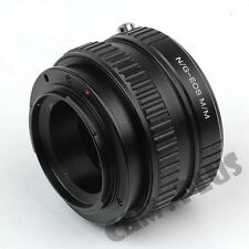Camera Macro Focusing Helicoid Tube For Nikon F G Lens to Canon EOS M10 M3 M2 M