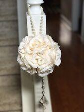 10 Ivory Flower Balls