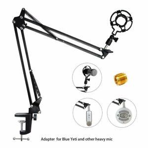 Microphone Desktop Stand Kit Suspension Boom Scissor Arm Holder Studio Broadcast