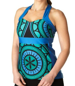 Moxie Sweetheart Blue Green Cycling Jersey Tank Sz Small - NWT
