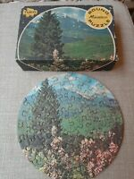 Vintage Tuco Round Mini Puzzle OriginalBox Colorado Countryside