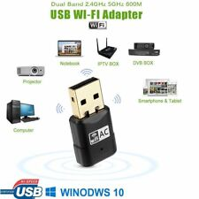 600Mbps Dual Band 802.11ac 2.4GHz 5GHz USB Wifi PC Adapter Dongle LAN Network UK