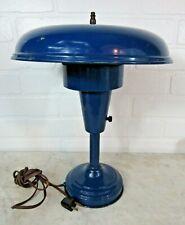 """Mid-Century UFO Mushroom Metal Table Lamp Art Deco Retro Vintage 14"""" WORKS!"""