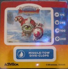 Missile-Tow Dive-Clops Skylanders Superchargers Sticker Only!