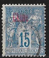 French China stamps 1894 YV 6b  Variaty:on France YV 90  CANC  VF