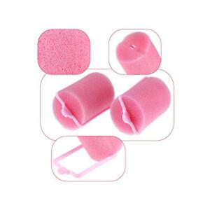 Bigodini Per Capelli Spugna Rosa 6 Pezzi diametro 3,5