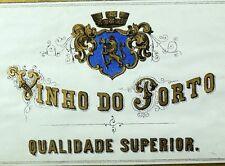 1870's-80's Vinho Do Porto Wine Bottle Label Vintage Original Victorian F99