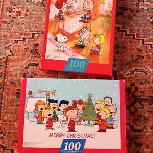 Peanuts CHARLIE BROWN Thanksgiving Christmas 100 Piece PUZZLES Sprinbok