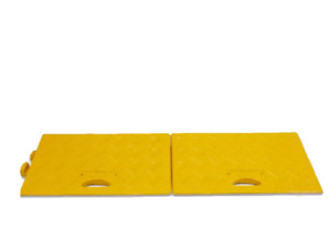Pack of 2 - HEAVY DUTY Kerb Ramps YELLOW (Perfect for HGV) - VERY HARD WEARING