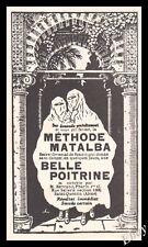 Publicité Belle Poitrine Femmes Voilées Musulmanes Cosmetics Vintage Ad 1923