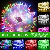 100-1000LED Christmas Fairy String Lights Outdoor Indoor Xmas Party Lamps Decor