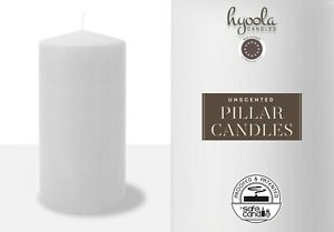 White Pillar Candles Unscented -  Quality European made Multiple Sizes