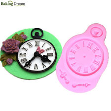 New Silicone Clock Shaped Mold Fondant Cake Mould DIY Watch Chocolate Bake Mold