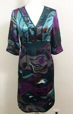 MixIt Womens Slip On Printed Silky Cocktail Dress Handkerchief Size 6