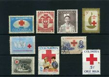 RED CROSS of COLOMBIA  used-   Lot 9   50,60,60,70s