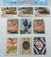 2017 YULIESKI GURRIEL Rookie Lot x 9 RC Topps Chrome Refractor Archives | Astros