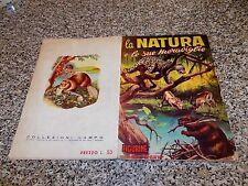 ALBUM LA NATURA E LE SUE MERAVIGLIE ED.LAMPO 1963 COMPLETO MB/OTT TIPO PANINI