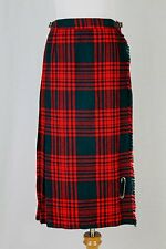 Gor-Ray Vintage Scottish Red & Green Wool Tartan Plaid Kilt Skirt S XS