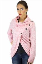 Damen-Pullover & -Strickware mit Knöpfen Normalgröße im Lagenlook-Stil