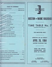 1964        BOSTON  &  MAINE        System   Timetable # 7                MINT