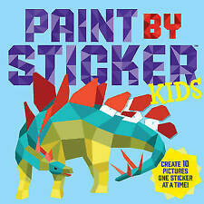Paint by Sticker Kids: Create 10 Pictures One Sticker at a Time-ExLibrary