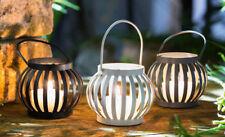 Teelichthalter Lampion 3er Set, Gartenwindlicht, Laterne, Kerzenhalter