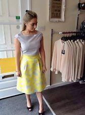 Fee G lemon & grey dress RRP £215 size 8 & 14