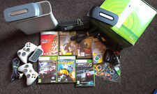 BOXED XBOX 360 ARCADE CONSOLE, 2 x CONTROLLERS & GAMES  BUNDLE!
