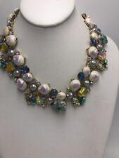 Betsey Johnson Glitter Reef Statement Mermaid Sea Shell Bling Necklace