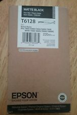 11-2019 NEW GENUINE EPSON T6128 MATTE BLACK INK 220ml STYLUS PRO 7800 9800