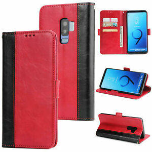 For Samsung Galaxy S6 S7 Edge S8 S9 Plus Luxury Flip Leather Wallet Case Cover