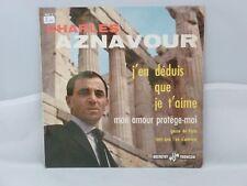 Charles Aznavour – J'en Déduis Que Je T'aime      Ducretet Thomson – 460 V 457