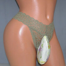 Victoria's Green Lace Thong SISSY POUCH PANTIES Crossdress for Men Sz 26-46 M