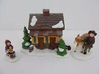 Dept 56 Dickens Village Tending the New Calves #58395 D56 DV Good Condition