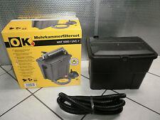 MKF 5000 / UVC Mehrkammerfilterset Filterset mit Pumpe Teich 5000 Liter 1,9m