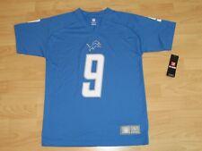 Detroit Lions Matthew Stafford #9 Honolulu Blue Football Jersey Size Youth Large