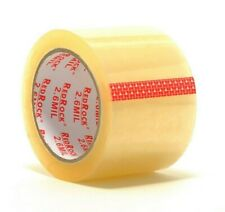 6 Rolls Redrock 3 X 55 Yds 26 Mil Clear Heavy Duty Packing Shipping Tape