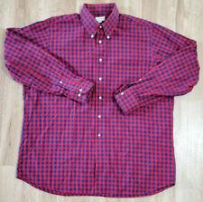 Maus & Hoffman Mens Shirt Size XL Blue Red