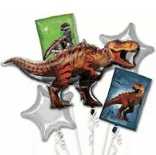 Jurassic World Dinosaurs party Favor (5)Foil Mylar Balloon Bouquet. Anagram