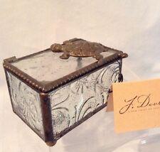 J. Devlin Glass Box w/ Turtle Clear Autumn Floral 3.25 x 2.5 x 2.25 $28.99