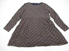 FASHION BUG Dress Women's Size 14 Long Sleeve Bohemian Black Shirt new