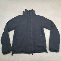 Superdry Windcheater Jacket Adult Extra Large Black 3 Full Zips Casual Mens *